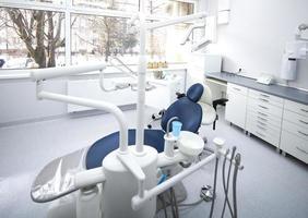 interior de la clínica dental foto