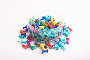 colorful push pins set photo