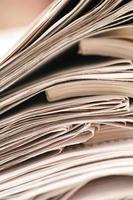 papel de carta de noticias foto