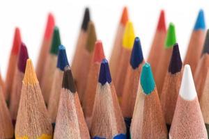 Assortment of colored pencils photo