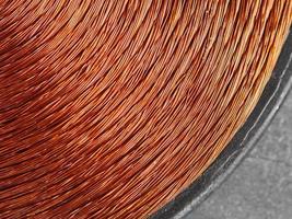 metal inductor de cobre foto