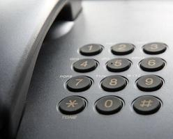 Black landline phone. photo