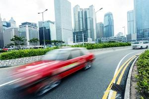 paisaje urbano moderno y camino de hong kong foto