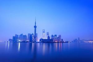 stillness of dawn in shanghai photo