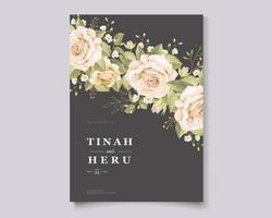 Floral and leaves template