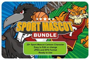Animals and Monsters Sport Mascot Bundle vector