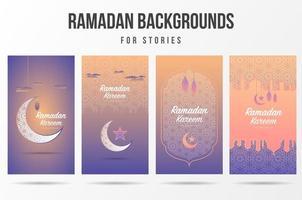 Ramadan Kareem Social Media Story Set  vector