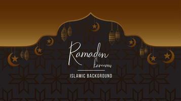 Ramadán Kareem fondo negro y dorado