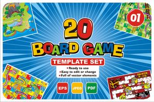 Conjunto de plantillas de 20 juegos de mesa vector
