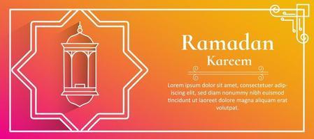 Ramadan Kareem Banner For Festival