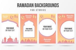 Social networks stories for Ramadan Kareem  vector