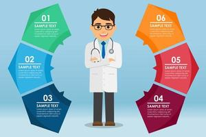 Medical Round Infographic vector