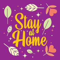 Purple Stay At Home Banner