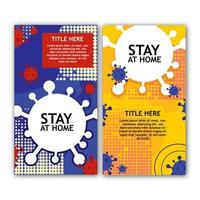 Stay At Home Banner Set
