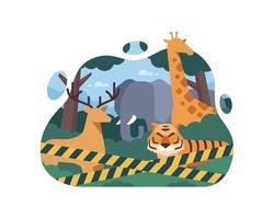 parar de negociar design de animais selvagens vetor