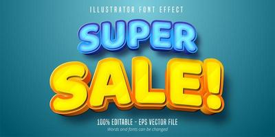 Super sale bold font style vector