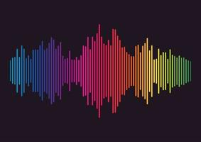 línea de ondas sonoras de colores