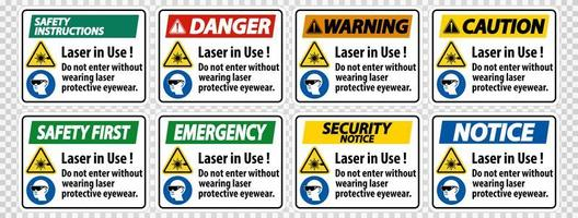 Warning PPE Safety Label vector