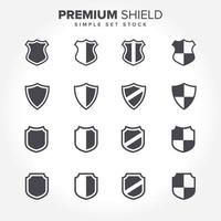 Shield Shape Icon Collection vector