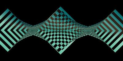 Geometric checker banner vector