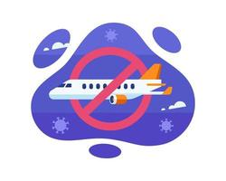 Flight Ban During The Coronavirus Pandemic Outbreak Design  vector