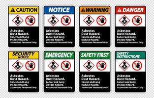 etiqueta de peligro de enfermedad vector