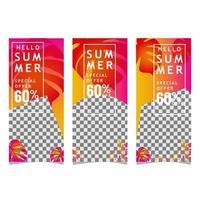 bannière d'image de vente d'été