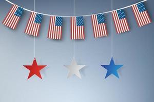 American stars banner vector