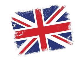 drapeau union jack grunge vecteur