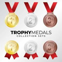 conjunto de coleta de medalha de prêmio