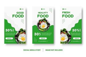 Green Social Media Post For Story vector
