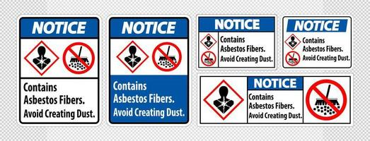 Notice Label Set vector