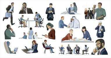 Business people set vector