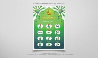 cartel de la guía de Ramadán Kareem vector