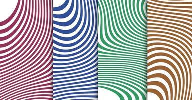 ensemble de bannière vague lignes abstraites vecteur