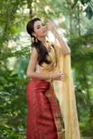 Thai woman wearing typical dress photo