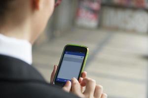 usando el teléfono inteligente-xxl foto