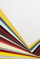 Multicolor paper samples for copyspace photo