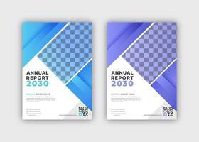 ensemble de rapport annuel de conception d'angle de gradient