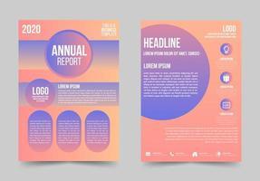 folleto de negocios degradado con detalles redondeados