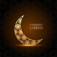 Glowing ornmantal Ramadan Kareem moon