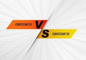 Versus contestant design on gray burst background vector