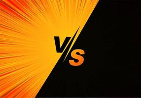 Versus comic screen in orange and black