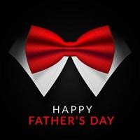 Happy Fathers Day Card with Red Bow Tie