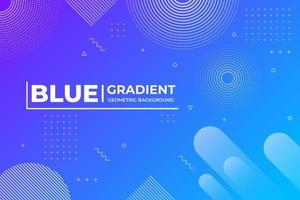 Abstract Geometric Shapes Blue Background vector