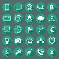 Modern design collection of flat icons