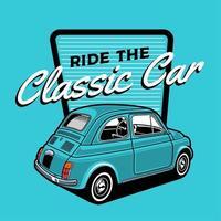 diseño de coche clásico azul pequeño