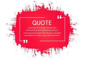 Modern Red Brushstroke Quote Template