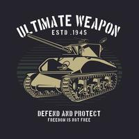 Warfare tank retro design vector