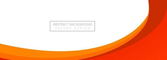 Modern Red and Orange Flowing Wave Banner